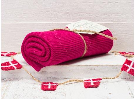 Solwang Handtuch Bordeaux Rot Küchentuch Baumwolle gestrickt in rot H75