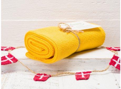 Solwang Handtuch dunkel gelb Küchentuch aus Baumwolle gestrickt H06