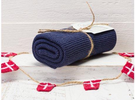 Solwang Handtuch dunkelblau staubig Küchentuch aus Baumwolle gestrickt H22