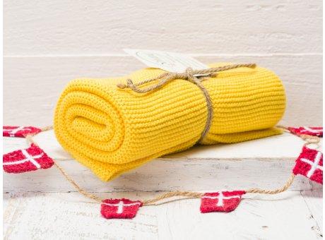 Solwang Handtuch gelb Küchentuch aus Baumwolle gestrickt H07