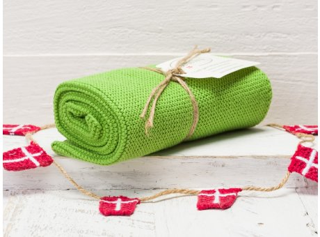 Solwang Handtuch Gras Grün Küchentuch aus Baumwolle gestrickt H42