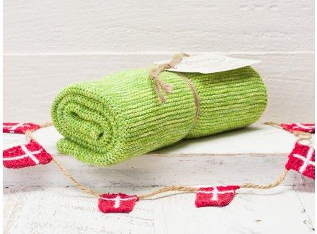 Solwang Handtuch Grün meliert Küchentuch Baumwolle gestrickt gruen mix H39
