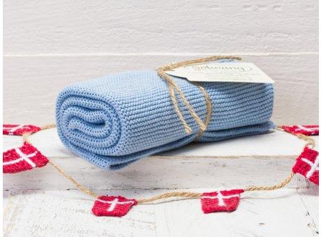 Solwang Handtuch hellblau Küchentuch blau aus Baumwolle gestrickt H23