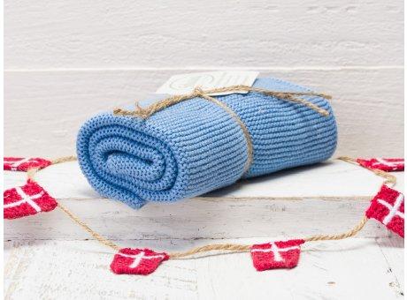 Solwang Handtuch hellblau staubig Küchentuch aus Baumwolle gestrickt H20
