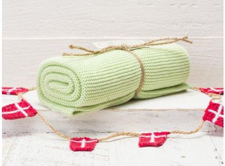 Solwang Handtuch Hellgrün Staubig Küchentuch Baumwolle gestrickt in grün H44