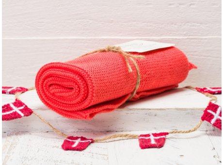 Solwang Handtuch Koralle dunkel Küchentuch aus Baumwolle gestrickt H16