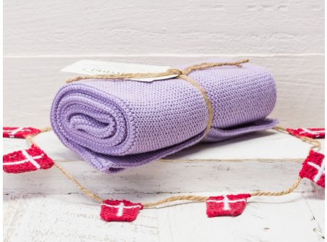 Solwang Handtuch Lila Hell Küchentuch Baumwolle gestrickt helles lila H60