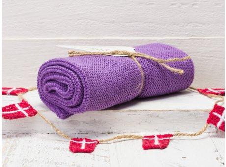 Solwang Handtuch Lila Küchentuch Baumwolle gestrickt H61