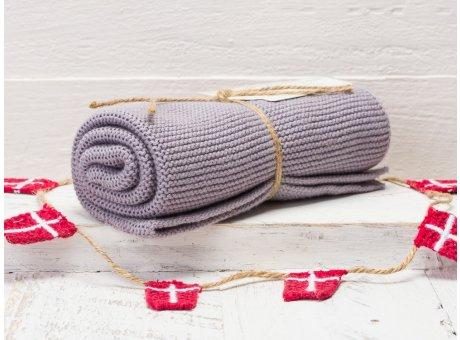 Solwang Handtuch Lila Staubig Hell Küchentuch Baumwolle gestrickt helles lila H81