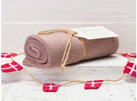 Solwang Handtuch Nougat Dunkel Küchentuch Baumwolle gestrickt im dunklen Nougat Ton H83