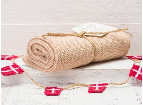 Solwang Handtuch Nougat Küchentuch Baumwolle gestrickt in nougat creme ton H82