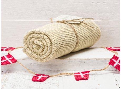 Solwang Handtuch Olive hell Küchentuch aus Baumwolle gestrickt H03