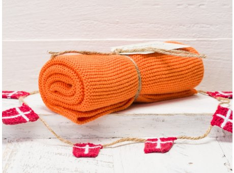 Solwang Handtuch orange Küchentuch aus Baumwolle gestrickt H12