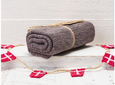 Solwang Handtuch Organisch Grau Küchentuch aus Bio Baumwolle gestrickt in grau meliert OH8586