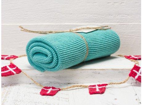Solwang Handtuch Petrol Küchentuch Baumwolle gestrickt H34
