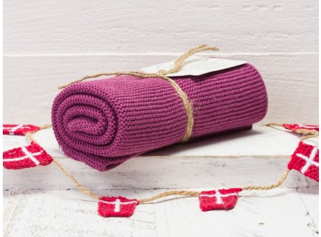 Solwang Handtuch Pflaume Küchentuch Baumwolle gestrickt im Pflaumen Ton H66