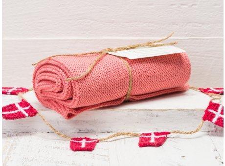 Solwang Handtuch Puder Dunkel Küchentuch Baumwolle gestrickt im dunklen Puderton H90