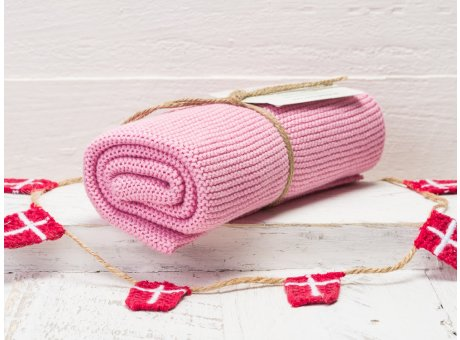 Solwang Handtuch rosa hell Küchentuch aus Baumwolle gestrickt H17