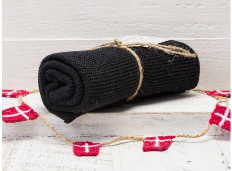 Solwang Handtuch Schwarz Küchentuch Baumwolle gestrickt H99