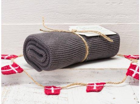 Solwang Handtuch Stahlgrau Dunkel Küchentuch Baumwolle gestrickt in dunklem Stahl Grau H93