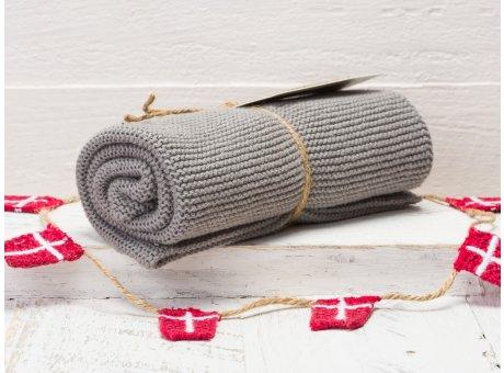 Solwang Handtuch Stahlgrau Medium Küchentuch Baumwolle gestrickt in Stahl Grau H92