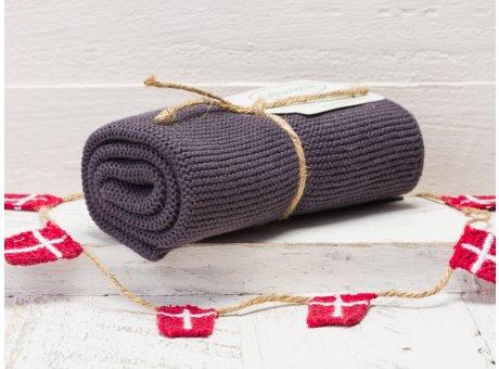 Solwang Handtuch Warm Dunkelgrau Küchentuch Baumwolle gestrickt im warmen dunklen Grau Ton H87