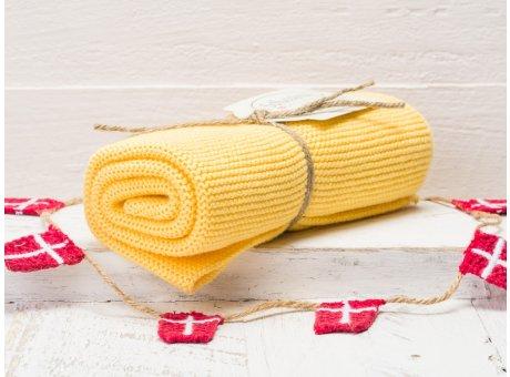 Solwang Handtuch warm gelb Küchentuch aus Baumwolle gestrickt H05