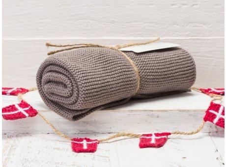 Solwang Handtuch Warm Grau Küchentuch Baumwolle gestrickt im warmen Grauton H86