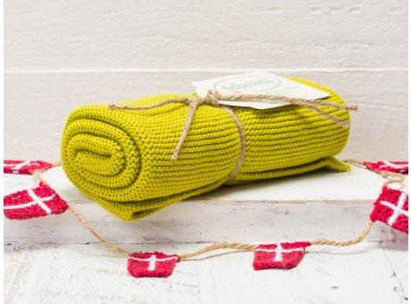 Solwang Handtuch Zitronelle dunkel Küchentuch aus Baumwolle gestrickt in Zitronen gelb H52