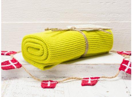 Solwang Handtuch Zitronelle gelb Küchentuch aus Baumwolle gestrickt in Zitronengelb H55