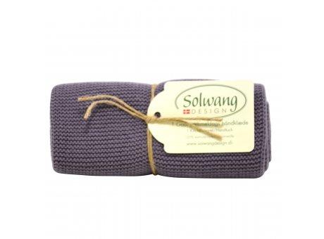 Solwang Küchentuch dunkel staubig lila Geschirrtuch aus Baumwolle Solwang Design H28