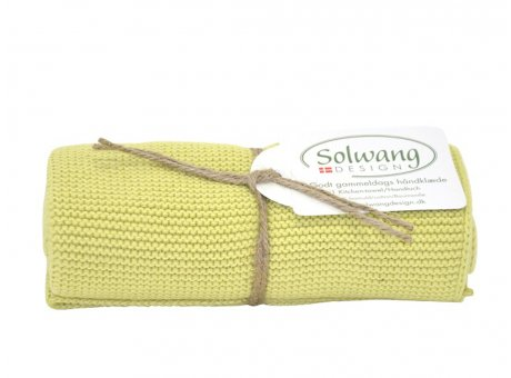 Solwang Küchentuch Frühlingsgrün Hell Handtuch  aus Baumwolle gestrickt Grün Solwang Design Geschirrtuch Nr H136