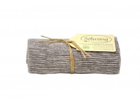 Solwang Küchentuch Organisch Creme Grau Meliert Geschirrtuch aus Bio Baumwolle Solwang Design OH0286
