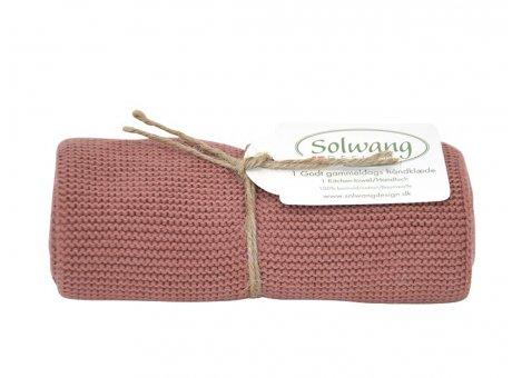 Solwang Küchentuch Pfirsich Dunkel Handtuch  aus Baumwolle gestrickt Solwang Design Geschirrtuch Nr H134