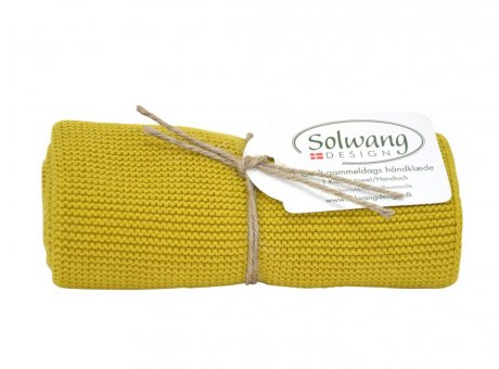 Solwang Küchentuch Safran Handtuch  aus Baumwolle gestrickt Gelb Solwang Design Geschirrtuch Nr H129