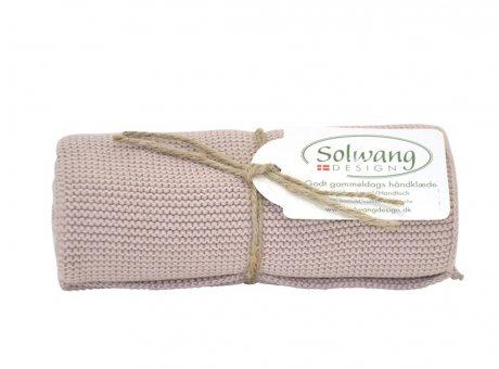 Solwang Küchentuch Sand Dunkel Handtuch  aus Baumwolle gestrickt Solwang Design Geschirrtuch Nr H127
