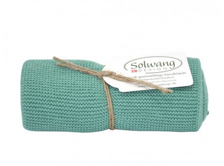 Solwang Küchentuch Sommergrün Dunkel Handtuch  aus Baumwolle gestrickt Grün Solwang Design Geschirrtuch Nr H133