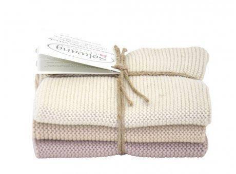 Solwang Wischtuch Sand Kombi Baumwolle 3 Spültücher gestrickt Solwang Tücher Set Nr 08126127