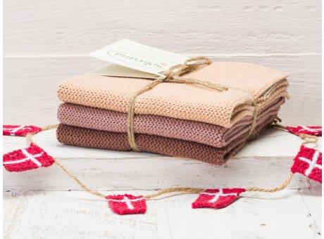 Solwang Wischtücher Braun Kombi 3er Pack Wischtuch aus Öko Tex zertifizierte Baumwolle 3 unterschiedlich braune Wischlappen im Set