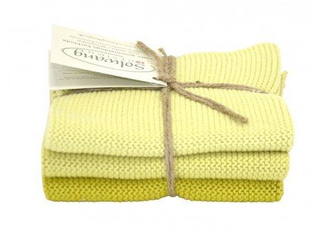 Solwang Wischtücher Frühlingsgrün Kombi Baumwolle 3 hellgrüne Tücher gestrickt Solwang Spültuch Set Nr 13513653