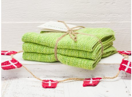 Solwang Wischtücher Grün Meliert Kombi 3er Pack Wischtuch aus Öko Tex zertifizierte Baumwolle in Hellgrün Mix