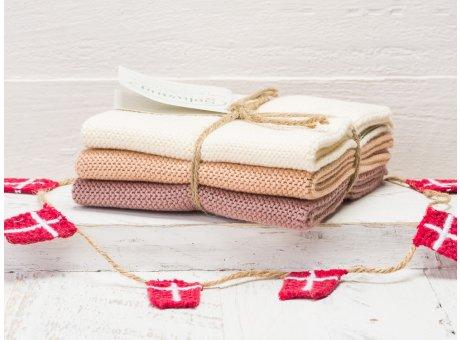 Solwang Wischtücher Natur Nougat Kombi 3er Pack Wischtuch aus Öko Tex zertifizierte Baumwolle