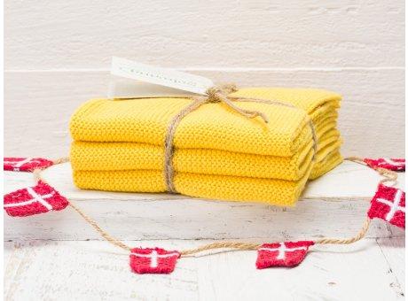 Solwang Wischtücher Starkes Gelb Kombi 3er Pack Wischtuch aus Öko Tex zertifizierte Baumwolle Drei gelbe Wischlappen im Set