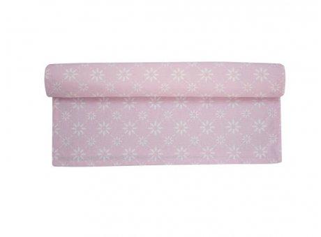 Tischläufer Diagonal rosa pink Blumen weiß Krasilnikoff Tischdecke