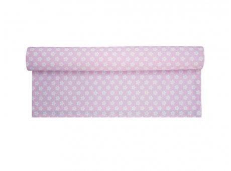 Tischläufer Retro Flower rosa pink Blumen weiß Krasilnikoff Tischdecke
