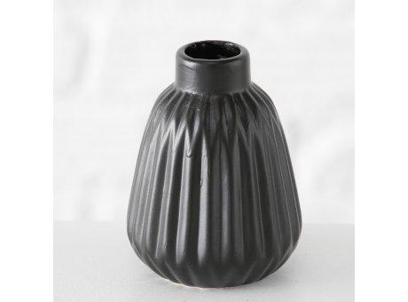 Vase Sina schwarz Blumenvase aus Keramik 12 cm hoch