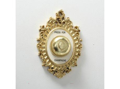 Wandobjekt Champagner Klingel Gold 14 x 23 cm Deko Objekt