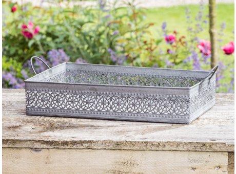Zink Tablett Martha im Garten 35 cm