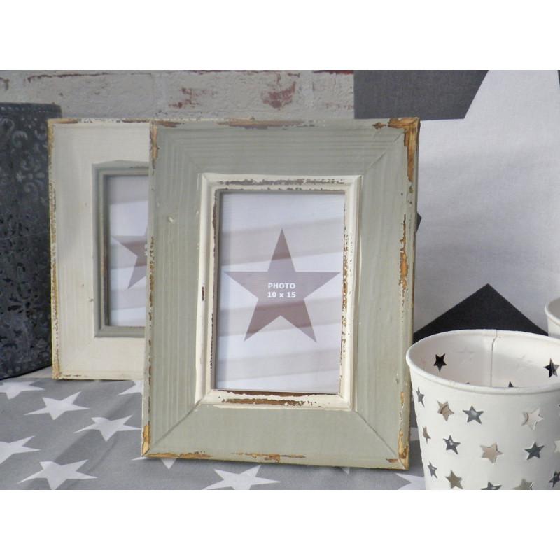 bilderrahmen newcastle stern f r 1 foto retro style holz in grau 20 x 24 cm. Black Bedroom Furniture Sets. Home Design Ideas