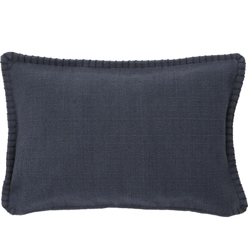 A Simple Mess Kissenhülle Mathilde anthrazit grau Kissen Bezug aus grober Baumwolle 40 x 60 cm